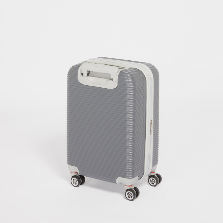 Duchini Textured Hard Case 360 Spinner Trolley Bag with Twin Pockets