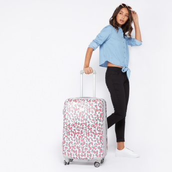 Elle Printed Hard Case 360 Spinner Trolley Bag with Cushion Handle