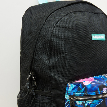 KangaROOS Printed Backpack with Zip Closure and Adjustable Straps