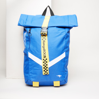KangaROOS Textured Backpack with Buckle Closure