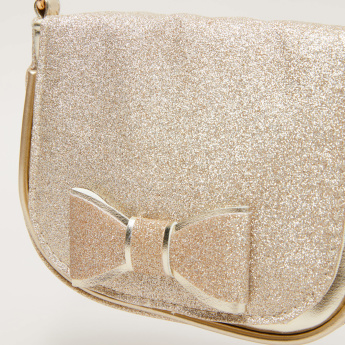 Little Missy Glitter Satchel Bag with Adjustable Strap