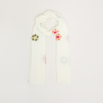 Celeste Embroidered Scarf