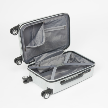 Duchini Textured Hard Case Trolley Bag with Cushioned Handle