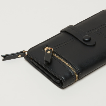 Paprika Tri-Fold Wallet with Press Button Closure