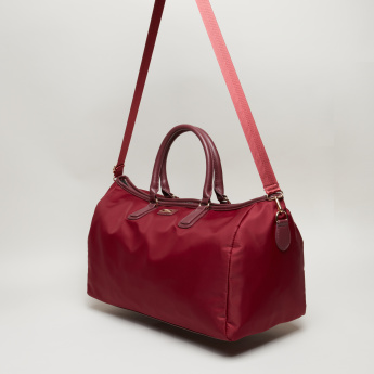 Paprika Multi-Compartment Duffel Bag with Zip Closure and Twin Handles