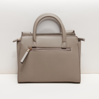 Jane Shilton Textured Satchel Bag with Zip Closure and Twin Handles