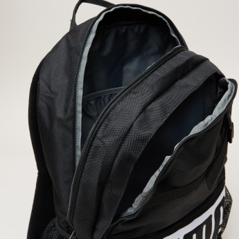 PUMA Printed Backpack with Zip Closure and Shoulder Straps