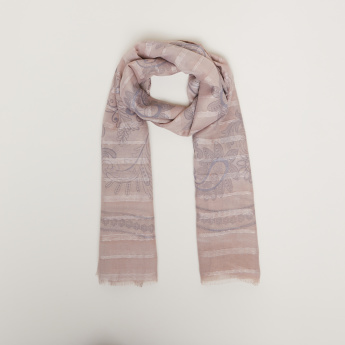 Celeste Printed Scarf with Fringes