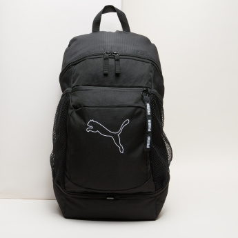PUMA Textured Backpack with Zip Closure and Adjustable Straps