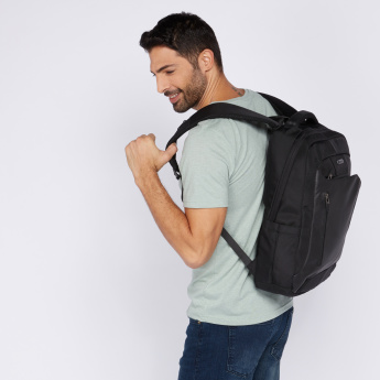 Textured Adjustable Straps Backpack