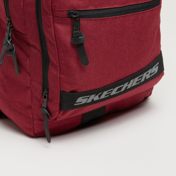 Skechers Textured Backpack with Zip Closure