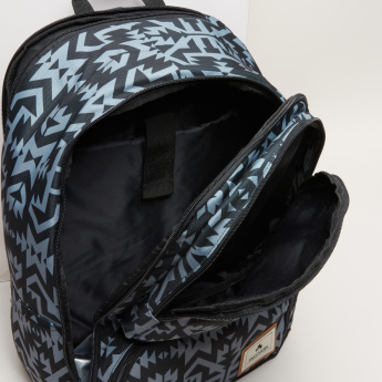 Skechers Printed Backpack with Zip Closure