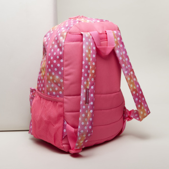 Skechers Polka Dot Backpack with Zip Closure and Adjustable Straps