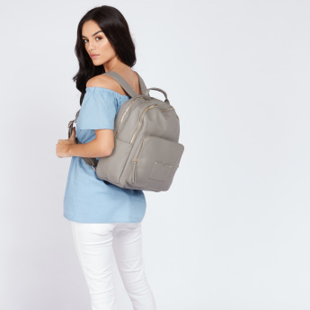 Paprika Multi-Compartment Backpack with Top Handle