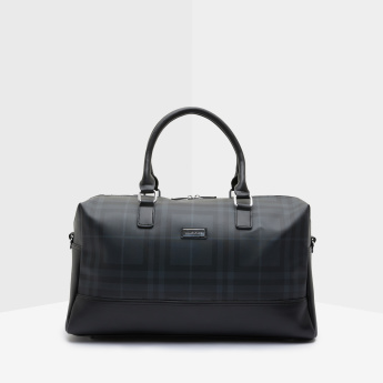 Duchini Chequered Duffle Bag