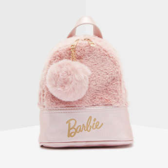 Barbie Plush Backpack with Zip Closure
