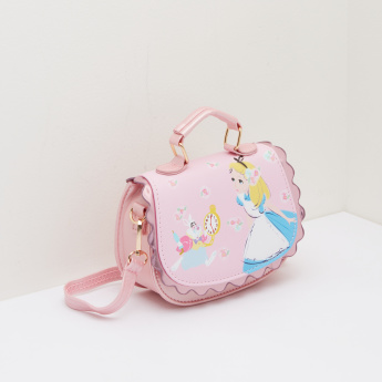 Cinderella Printed Satchel Bag