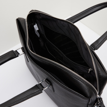 Duchini Textured Portfolio Bag with Dual Handles