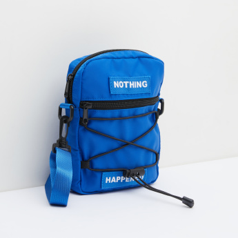 Printed Backpack with Detachable Shoulder Strap