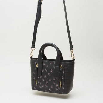 Celeste Printed Mini Tote Bag with Detachable Strap