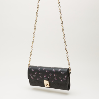 Celeste Printed and Embossed Satchel Bag