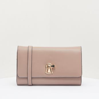 Celeste Twist Lock Sling Bag with Flap
