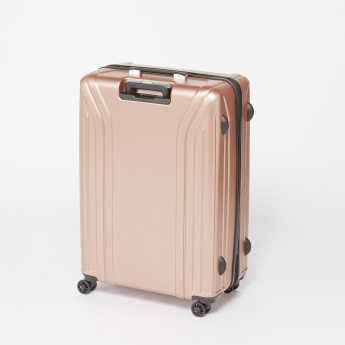 Duchini Textured Hard Case Trolley Bag with Zip Closure