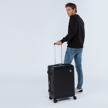 Duchini Textured Hard Case Trolley Bag with Retractable Handle
