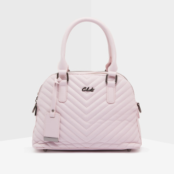 Celeste Quilted Tote Bag with Zip Closure
