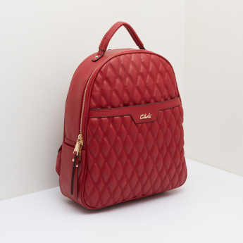 Celeste Quilted Backpack with Zip Closure