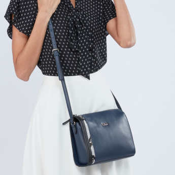 Celeste Crossbody Bag with Snake Skin Detail