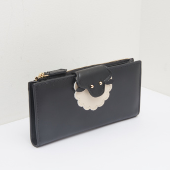 Missy Wallet with Applique Detail and Flap