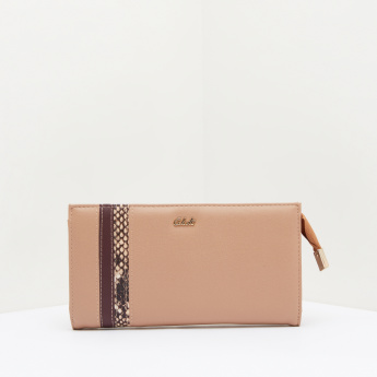 Celeste Applique Detail Wallet with Zip Closure