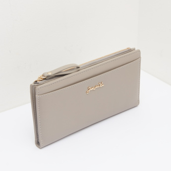 Celeste Wallet with Press Button Closure and Wristlet