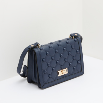 Celeste Quilted Satchel Bag with Twist Lock