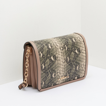 Celeste Textured Satchel Bag with Animal Prints
