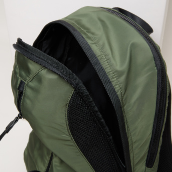 ANTA Mesh Detail Backpack with Zip Closure