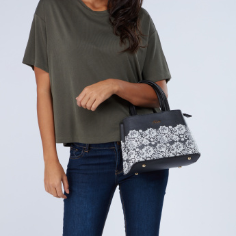 Celeste Lace Detail Handbag with Twin Handles