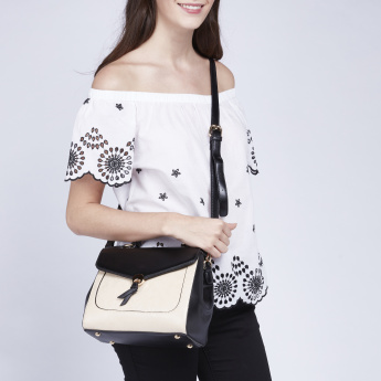 Celeste Embossed Satchel Bag