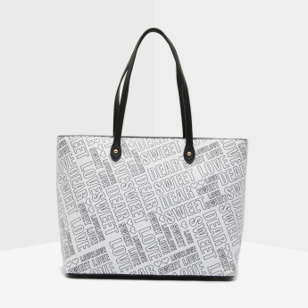 Missy Text Printed Tote Bag