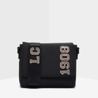 Lee Cooper Applique Detail Satchel Bag