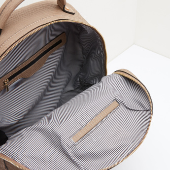 Celeste Textured Backpack with Zip Closure
