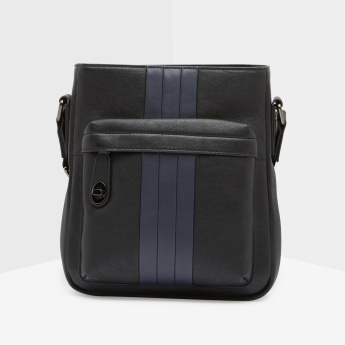 Duchini Two-Tone Messenger Bag with Adjustable Strap