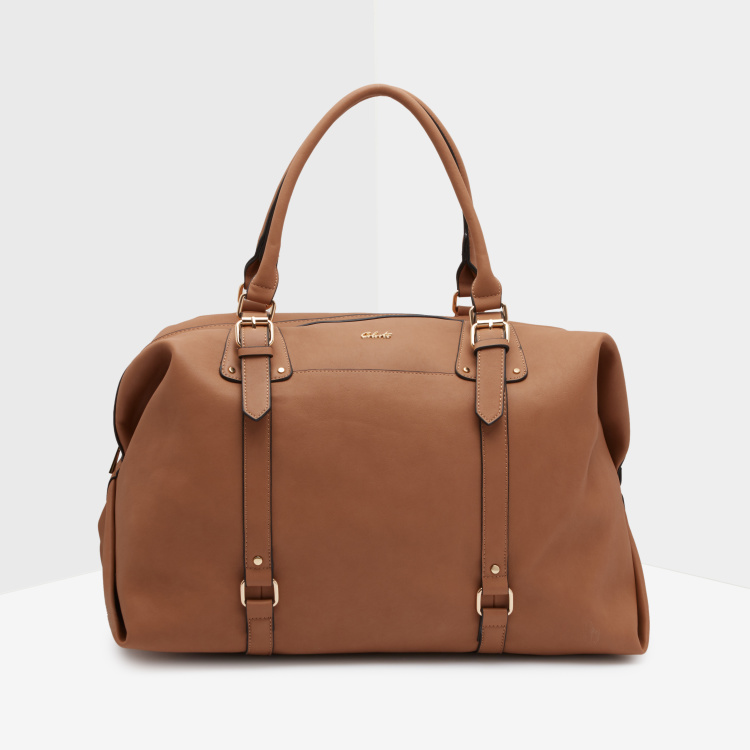 Celeste Plain Duffle Bag with Zip Closure