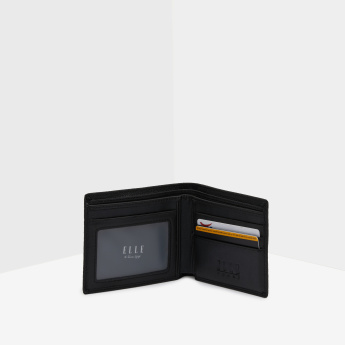 ELLE Textured Coin Bill Fold Wallet