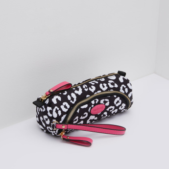 Missy Printed Pouch Case with Contrast Tag Detail