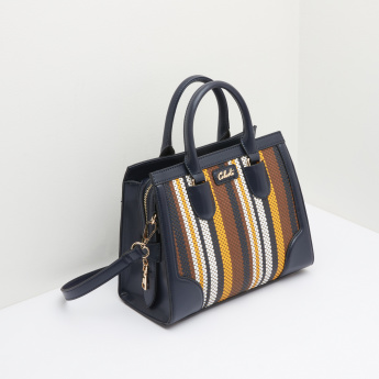 Celeste Striped Tote Bag with Twin Handles