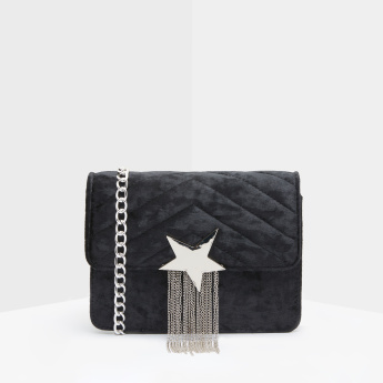 Missy Quilted Satchel Bag with Tassels and Magnetic Snap Closure