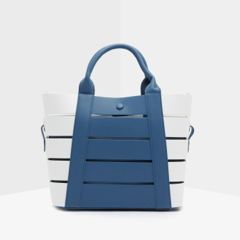 Missy Cutout Detail Tote Bag with Pouch