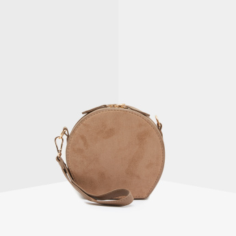 Missy Textured Round Crossbody Bag